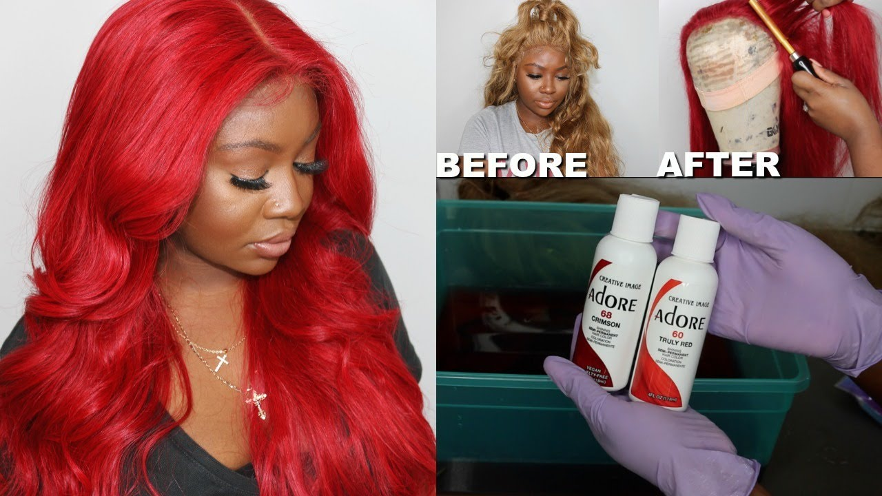 How To WATERCOLOR Hair | Blonde to Bright Red In 10 Minutes | Westkiss