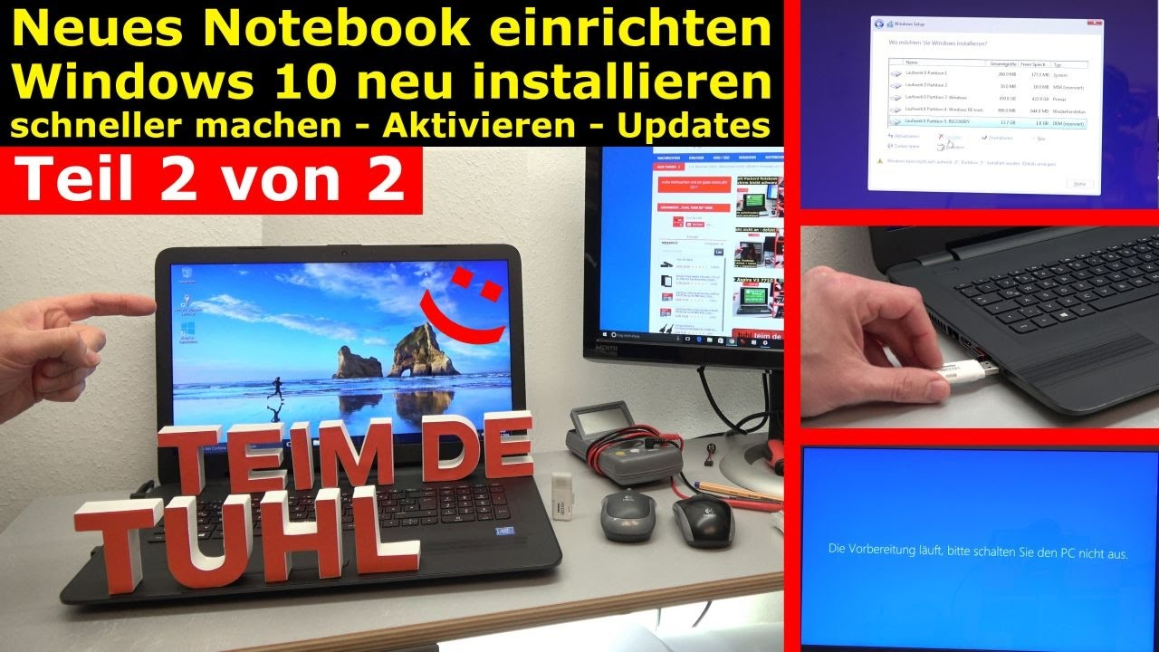 Neues notebook einrichten teil 2 windows 10 komplett for Neues bad einrichten