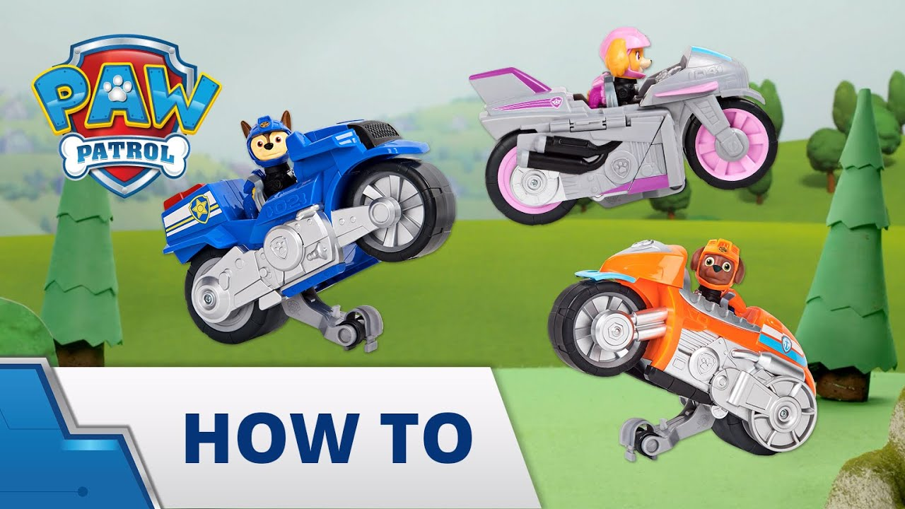 Download PAW Patrol Moto Pups Deluxe Vehicle How To! - PAW Patrol Official & Friends