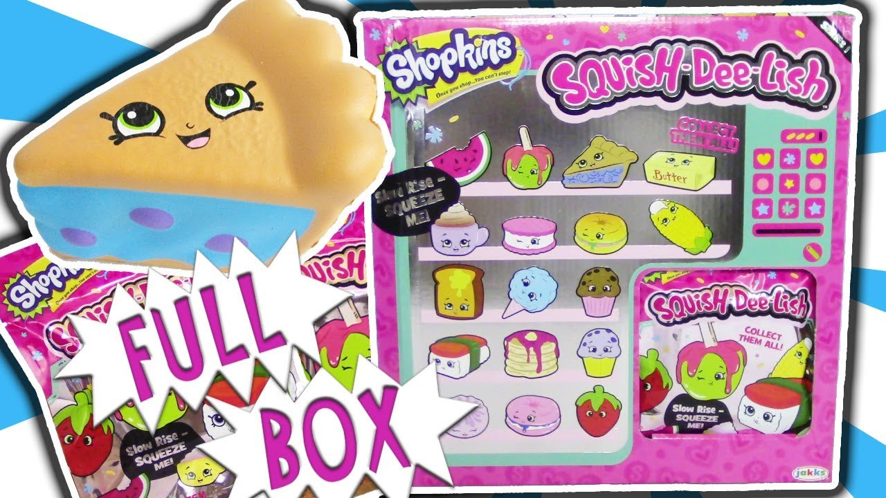 Squish Delish Wacky Series : Shopkins Squish-Dee-Lish FULL BOX Squishy Slow Rise BLIND BAG OPENING PART 1 Trusty Toy ...