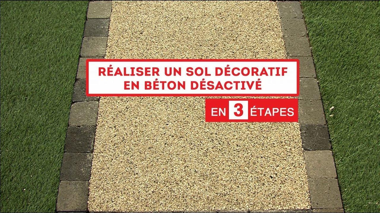 Allée De Garage En Béton Drainant en 3 étapes : réaliser un sol décoratif en béton désactivé