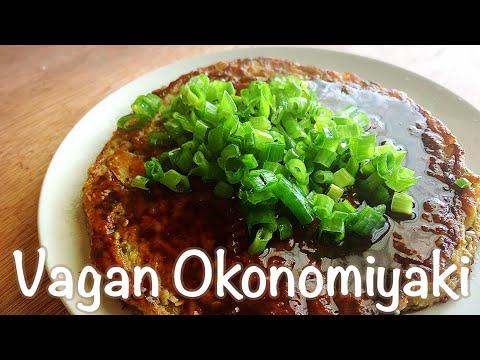 Vegan Okonomiyaki (glten free & no egg)/ 野菜沢山 お好み焼き(小麦粉,卵なし) ビーガンレシピ #35