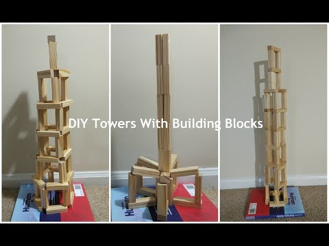 Building Towers : DIY Wooden Blocks