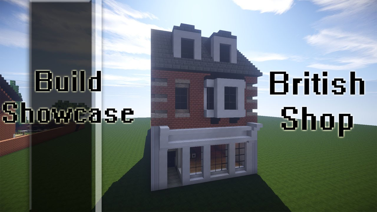 Minecraft Build Showcase Britsh High Street Shop Youtube