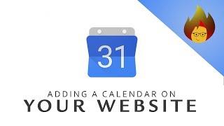 ADDING a Calendar on Your Website | GOOGLE CALENDAR