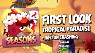 First Look at Angry Birds Seasons Tropigal Paradise Update (plus, some info on crashing)