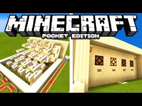 "Minecraft PE: Redstone Tutorial - ""AUTO TRACK CHANGING TRAIN STATION"" (w/ Auto Reset)"