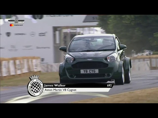 Witness The Aston Martin V8 Cygnet Scurrying Up The Goodwood