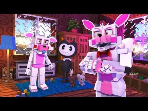 Funtime Foxy meets Mangle's Boyfriend (Minecraft Fnaf Daycare)