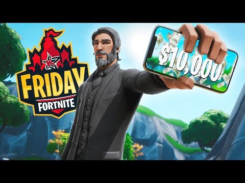 The FIRST MOBILE Player To Play In FRIDAY FORTNITE! ($10,000+ Tournament)