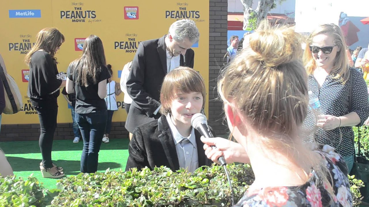 Noah Schnapp Voice Of Charlie Brown Interview At PEANUTS