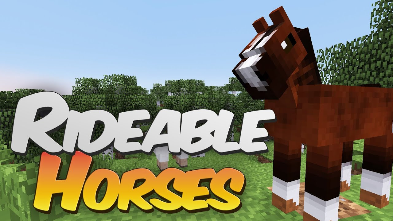 Rideable Horses in Minecraft - Simply Horses Mod Showcase