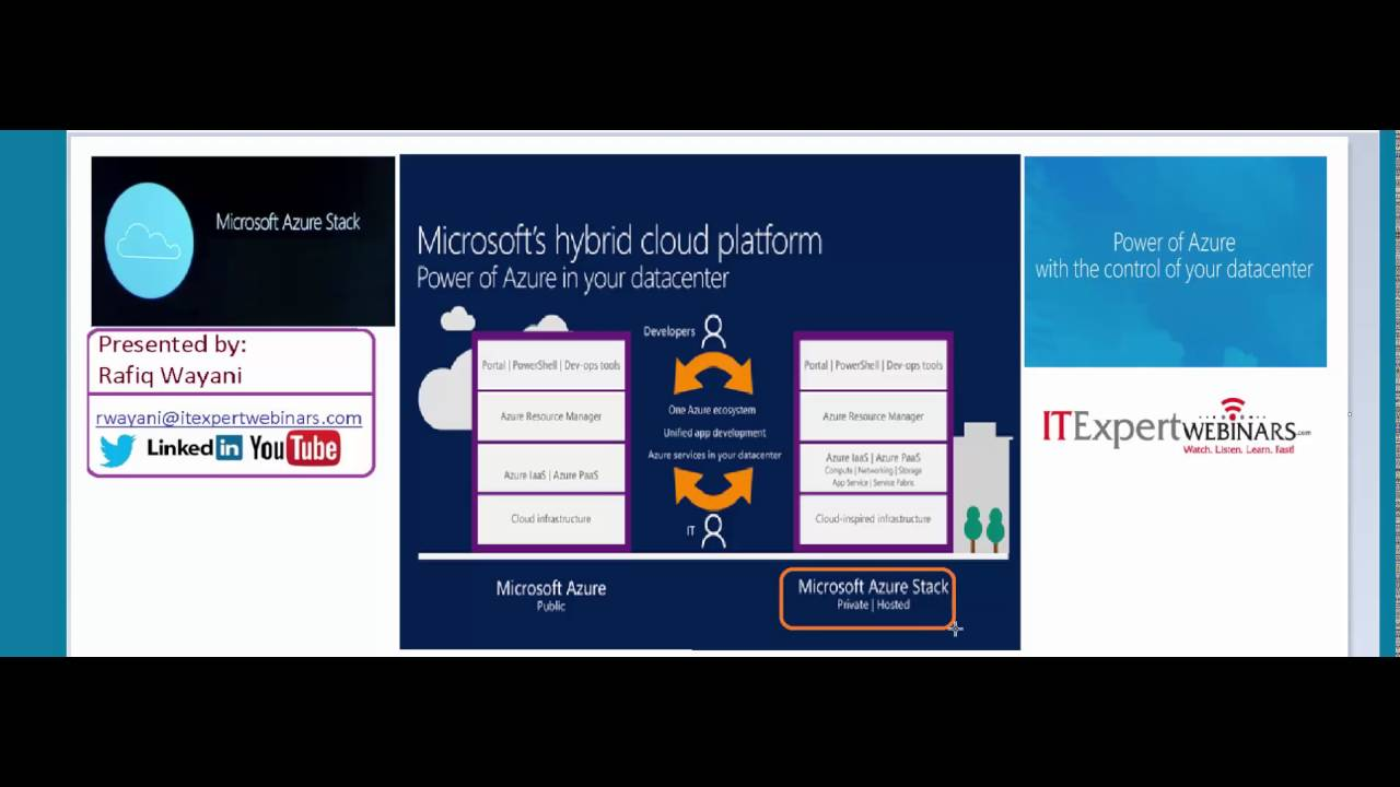 Introduction To Azure Stack - YouTube