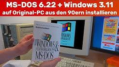 Wer kennt es noch? MS-DOS 6.22 + Windows 3.11 auf Original-PC aus den 1990ern installiert