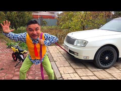 Mr. Joe On Nissan Cedric Punctured Wheel & Found Motorcycle