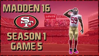 Madden 16 Franchise: San Francisco 49ers | Year 1, Game 5 @ Giants