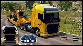 World Truck Driving Simulator - GamePlay #21 (Volvo FH & Oversized Trailer)