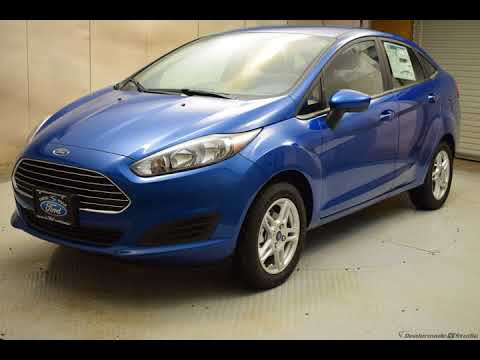 2018 Lightning Blue Metallic Ford Fiesta 4D Sedan #7064