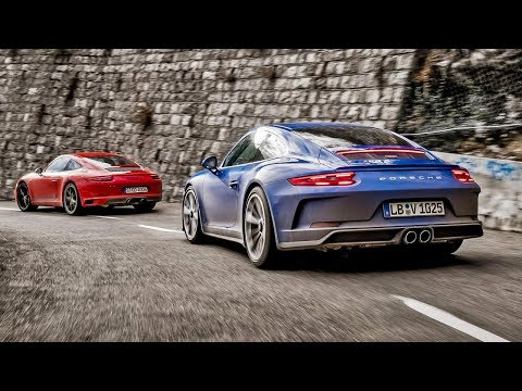 Top Gear Compares Porsche 911 GT3 Touring To 911 Carrera T