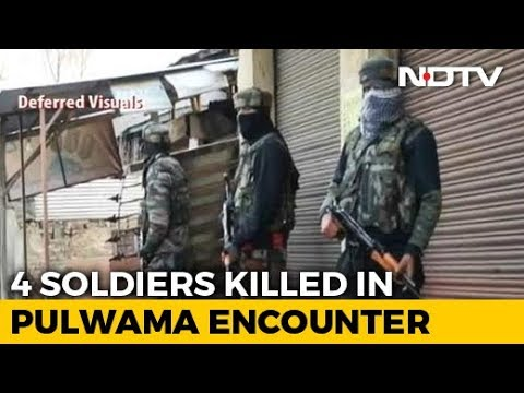 Officer, 3 Soldiers Killed In Overnight Encounter In J&K's Pulwama