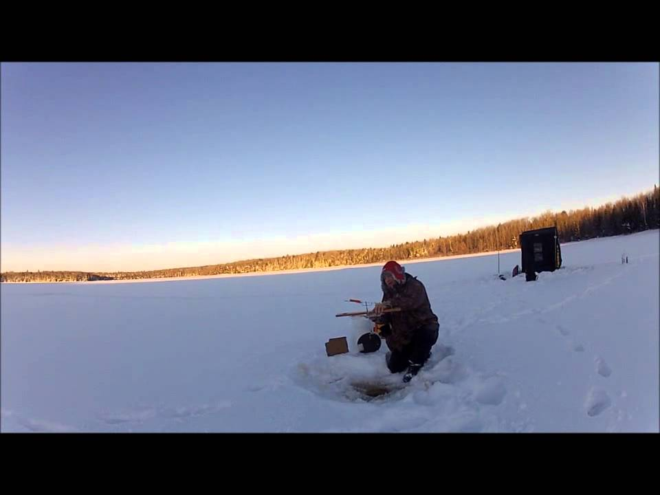 Ice fishing hole insulator youtube for Ice fishing youtube