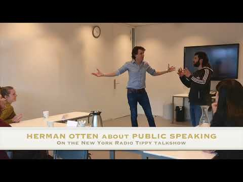 Herman Otten about public speaking anxiety on the NYC Radio - Tippy Talkshow