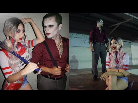 EASY Suicide Squad Harley Quinn & The Joker | Couples Halloween Makeup Tutorial