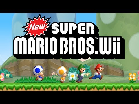 New Super Mario Bros. Wii - World 1 100% (All Star Coins)
