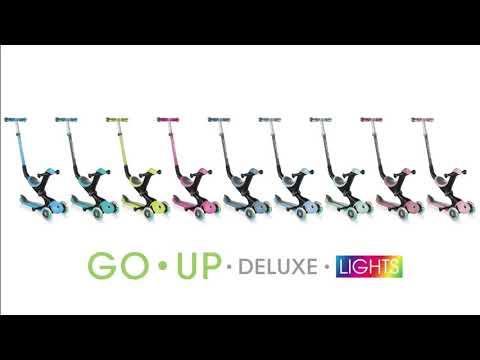 Globber GO UP Deluxe Play Lights детский самокат-трансформер