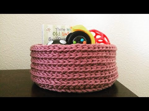 How To Crochet A Storage Basket Liluu0027s Handmade Corner Video # 154 & How To Crochet A Storage Basket Liluu0027s Handmade Corner Video # 154 ...