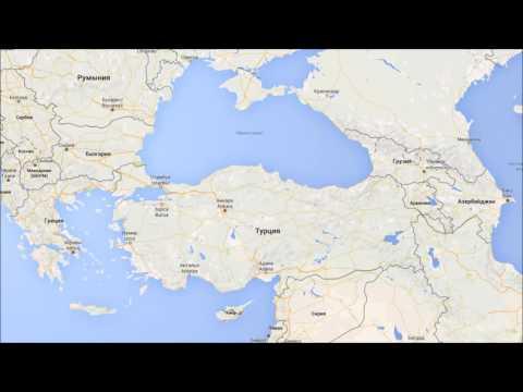 Где находится Турция? — страна на карте мира
