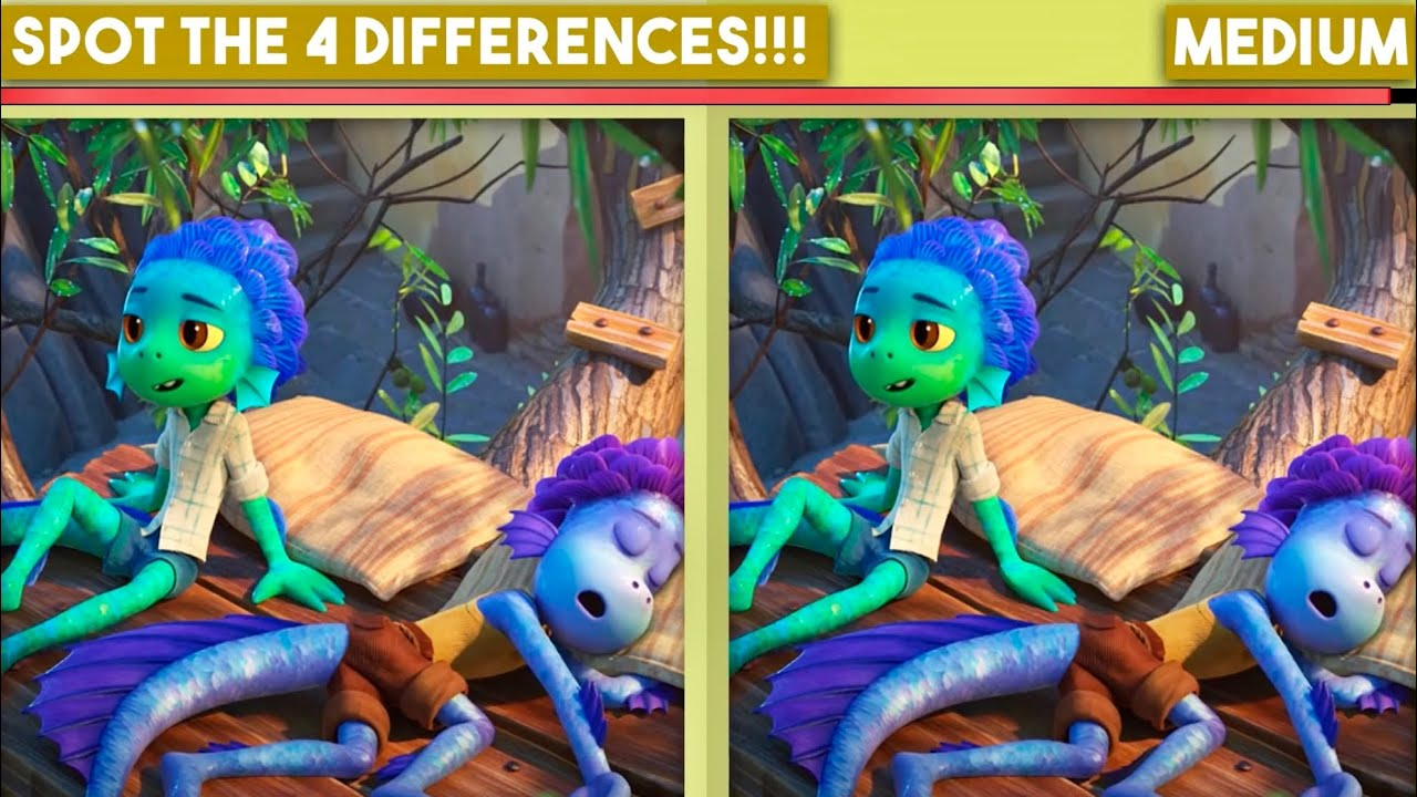 Luca x Alberto Spot The Difference Puzzles Game !!
