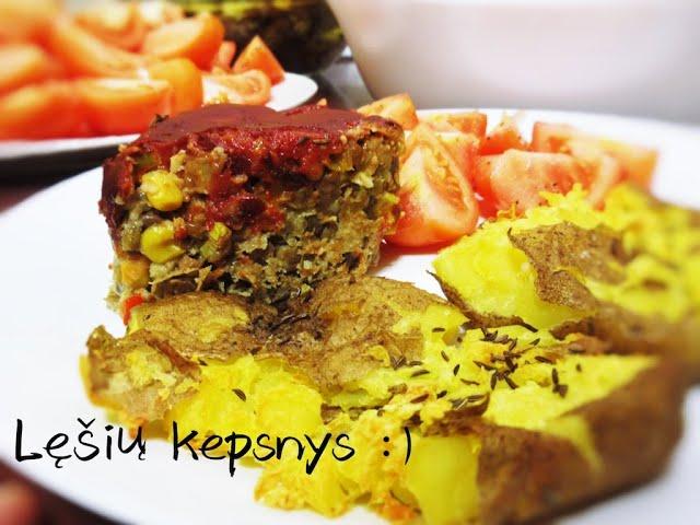 Lęšių kepsnys (receptas) / Vegan Pipiras