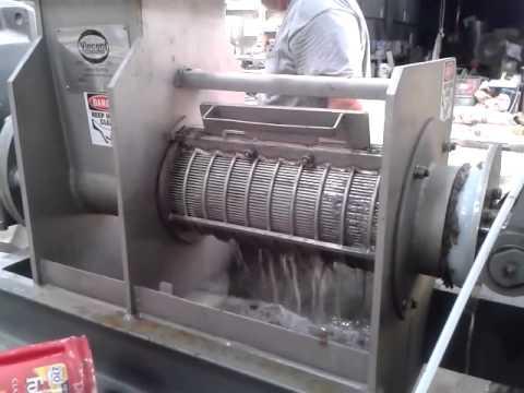 Swarf: KP-6 Separating Cutting Fluid from Metal