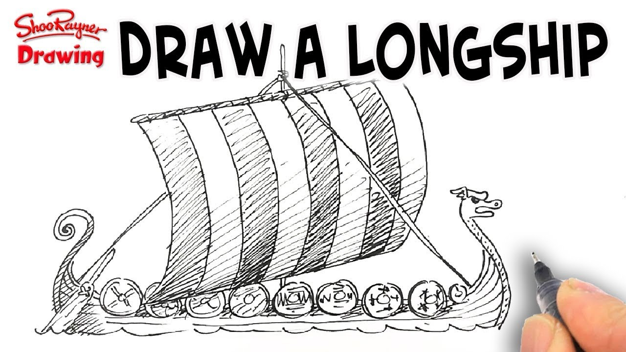 How To Draw A Viking Longship  Spoken Tutorial