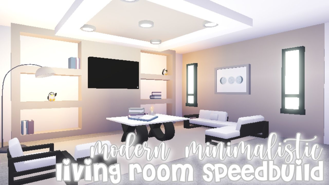 Modern Minimalistic Futuristic House Living Room Speed Build Roblox Adopt Me Youtube