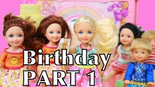 Frozen Barbie Chelsea BIRTHDAY PARTY Barbie Clubhouse Part 1 Toby Peppa Pig Shopkins AllToyCollector