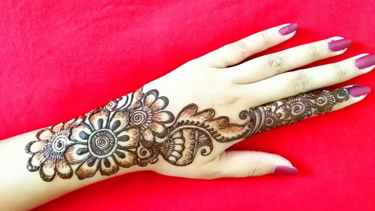 Mehndi Design Back Side Arabic
