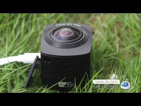 AMKOV AMK-100S 360 Degrees 1440P HD Wi-Fi Digital Sport Camera