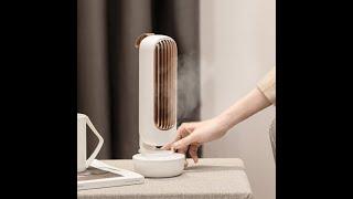 예쁜 수냉 선풍기 날개없는 탁상 책상 무풍 냉풍기