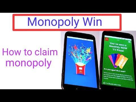 How To Claim Monopoly 2019 || McDonald's Monopoly Win Uk || I Won McDonald's Monopoly