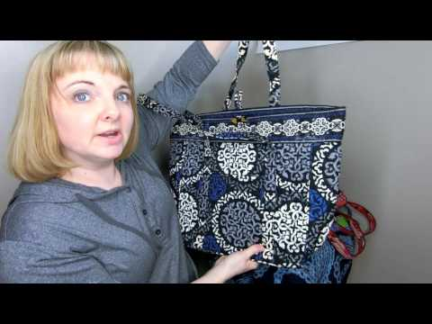 My Huge Vera Bradley Vera Tote Collection Comparison of Old and New  Style