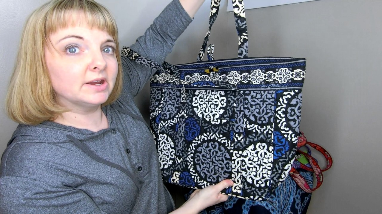 2141a4ece1f8 My Huge Vera Bradley Vera Tote Collection Comparison of Old and New Style