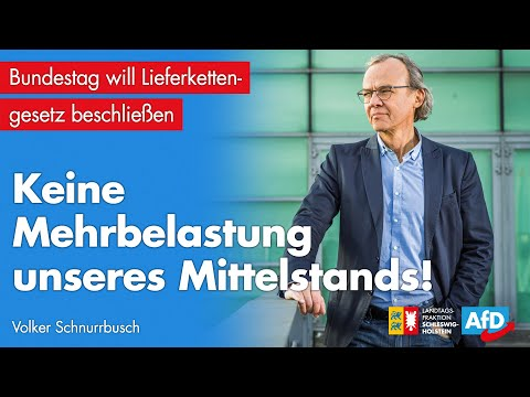 """Volker Schnurrbusch (AfD): """"Keine Mehrbelastung unseres Mittelstandes"""""""