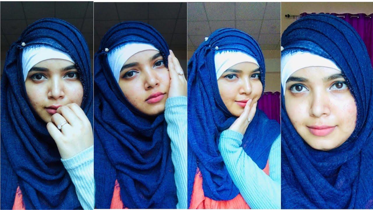 Side Criss Cross Hijab Style Easy Hijab Tutorial Crinkle Hijab Jasmin Begum Youtube
