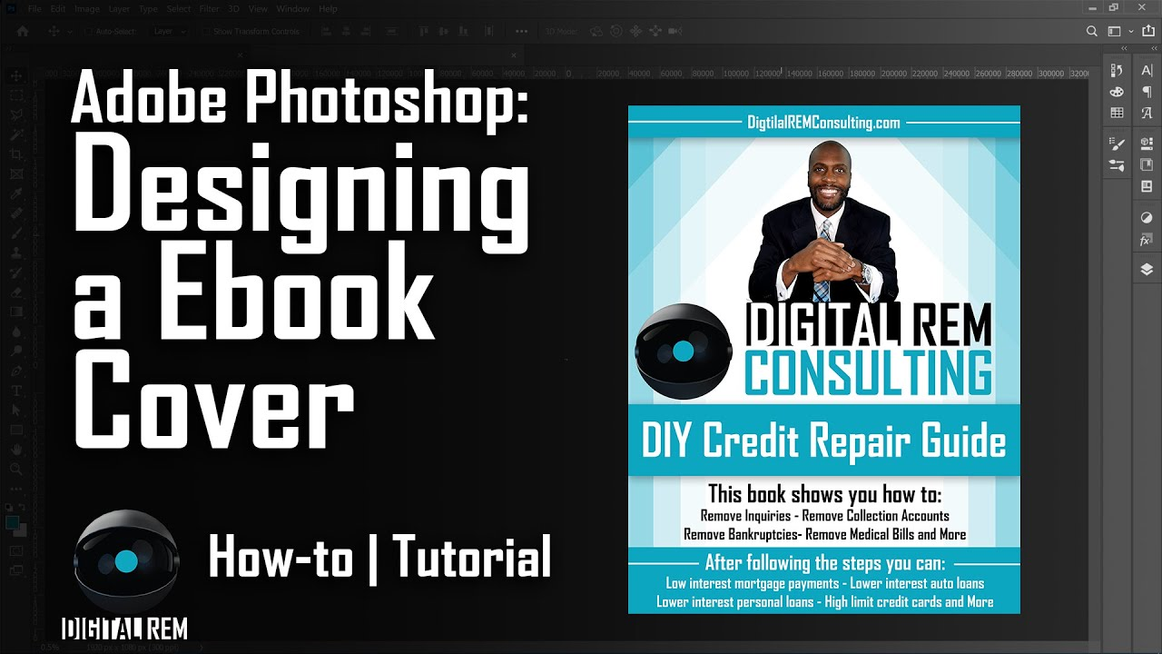 Building an EBook cover in Photoshop