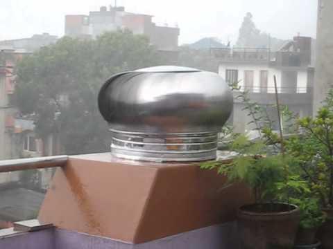 Airvent Turbine Ventilator During Rain