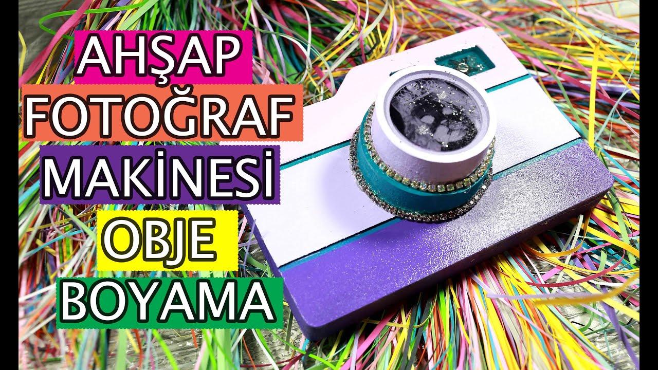 Ahsap Fotograf Makinesi Obje Boyama Youtube