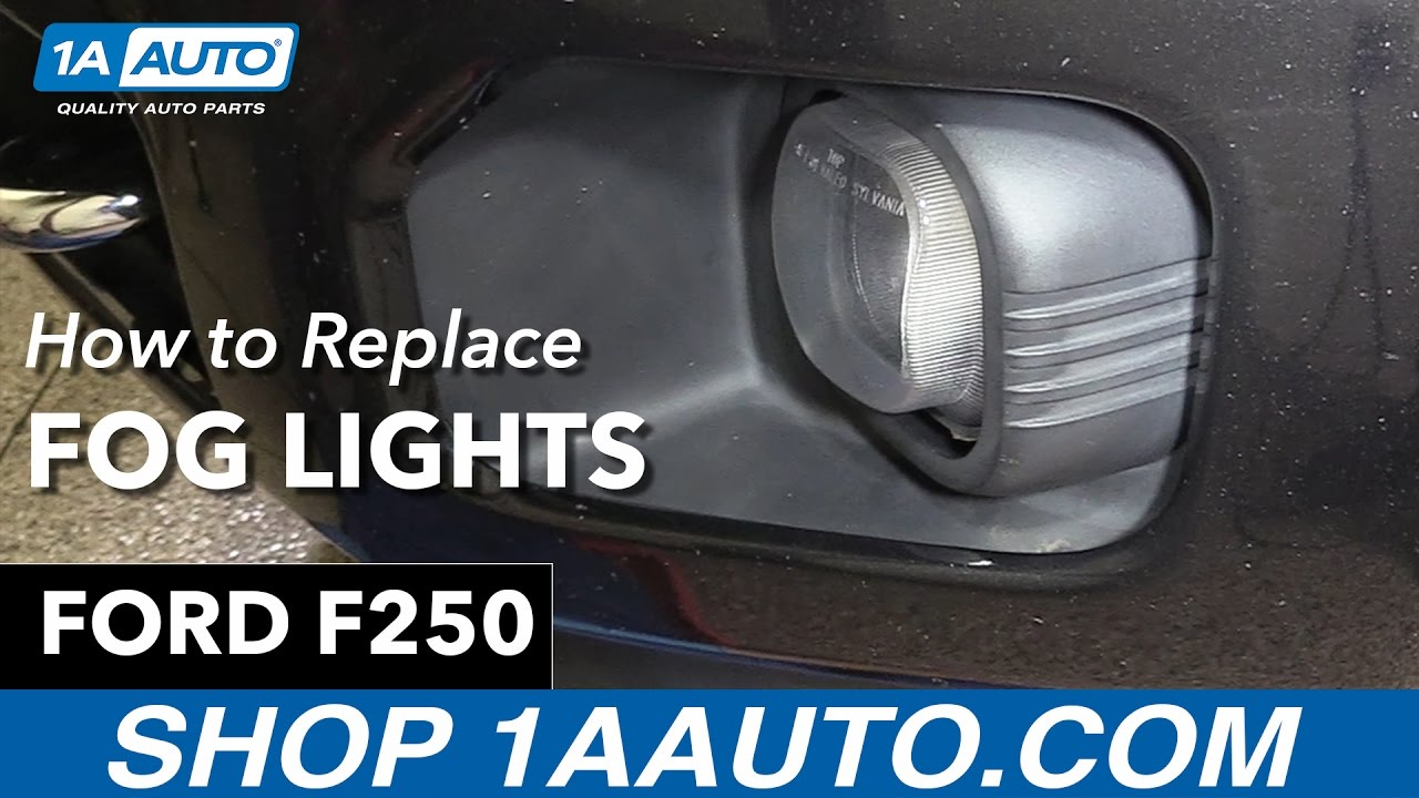 how to replace fog lights 11 16 ford f250 [ 1280 x 720 Pixel ]