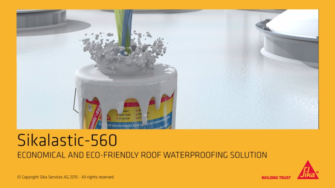 Sikalastic®-560: Liquid applied roof waterproofing membrane